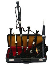 Great Highland Bagpipes Rosewood Silver Amounts/Scottish Bagpipes with Hard Case