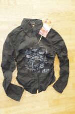 DESIGUAL NEW sz S - M / 38 Eur SHIRTS TOP BLOUSE LONG SLEEVE BUTTONS BLACK JOB