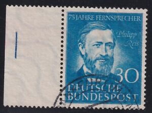 GERMANY 1952 USED #693, 75 YEARS OF TELEPHONE SERVICE IN GERMANY  !! J130