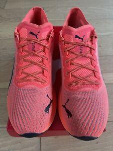 BNIB Puma Deviate Nitro Mens Running Shoes -Lava Blast Size UK 10