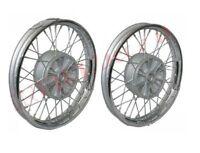 "Pair Front Rear 16"" Wm2 Jawa 250 350 Cw 36 Holes Chrome Wheel Rim With Spoke AUS"