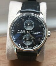 PARNIS 43mm ST2505 Automatic Watch Black dial  IWC Portugese homage styling