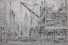 SALVATORE PINTO-Italian/PAFA Artist-Hand Signed LIM.ED Etching-Philadelphia View