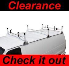 Dodge Ram All Years Van 3 bar Ladder Roof Racks Steel WHITE New Rack