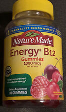 Nature Made Energy B12 1000 mcg Gummies, 80 Count 🍒Cherry & Mixed Berry 🍒