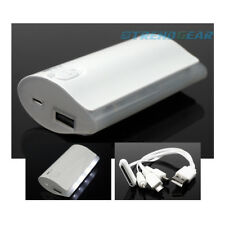 5200MAH BACKUP BATTERY CHARGER MICRO USB WHITE GALAXY S3 S4 NOTE TAB KINDLE FIRE