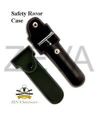 ZEVA Synthetic Leather Double Edge Safety Razor Case Pouch Black