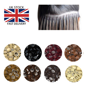 Pre-bonded Premium Silicone Lined Micro Rings Beads Natural Hair Extension UK