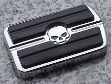 Kawasaki Suzuki Yamaha CHROME SKULL REAR BRAKE PEDAL COVER