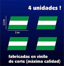 Pegatinas - Sticker - Vinilo - BANDERAS DE ANDALUCIA - VOLCADAS - 4 UNIDADES