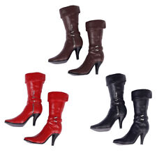 3 Pairs 1:6 Mid-calf Boots High Heel Boots Shoes for 12'' Phicen Female Body