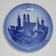 1972 Munich Summer Olympic Commemorative Plate - Royal Copenhagen