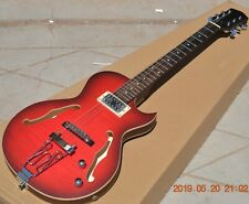 Semi Hollow Matte Electric Guitar,Rosewood Fretboard 1PCS Pickups Free Shipping