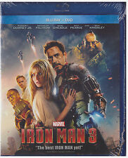 IRON MAN 3 (Blu-ray/DVD, 2013, 2-Disc Set) NEW