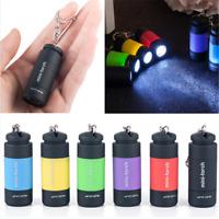 USB Rechargeable LED Light Flashlight Lamp Keychain Mini Torch Waterproof One