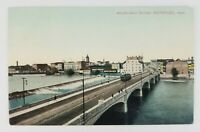 Postcard Melen Arch Bridge Waterloo Iowa Trolley