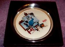 """Vintage Gorham Collectors Society """"Triple SelfPortrait"""" by Norman Rockwell"""
