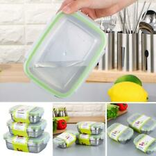 3pcs Stainless Steel Thermal Insulated Lunch Box Bento Food Container Box