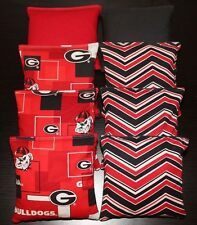 Cornhole Bean Bags made w Georgia Bulldogs Fabric Aca Regulation Uga Game Toss