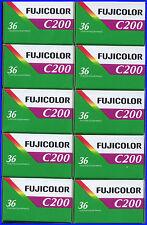 10 Rolls Fujifilm Fujicolor C200 200 ISO 36 exp 35mm Color Negative Film 4/2019