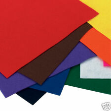 PEEL & STICK FUZZY FELT SQUARES - ASSORTED COLOURS 10 SHEETS