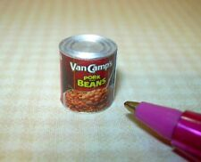 Miniature Brand Pork and Beans Can: DOLLHOUSE Miniatures 1/12 Scale