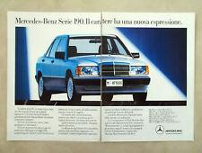 D392 - Advertising Pubblicità- 1988 - MERCEDES BENZ SERIE 190