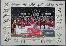 MANCHESTER UNITED 2007 Premiership Fully signed Print