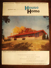 Ultra Rare 1955 FRANK LLOYD WRIGHT PRE-FABRICATED HOMES BROCHURE
