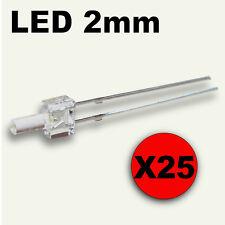 317/25# LED 2mm RED tower LED - free resistor -- 25pcs