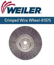 "Weiler 01075 6"" Narrow Crimped Wire Wheel, .014, 5/8""-1/2"" A.H. (TLN-6)"
