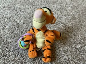 "Fisher Price Springtime Pals Easter Tigger Beanie Plush Stuffed Toy 7"" 2002 RARE"