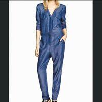 H&M Soft Blue Denim Boilersuit Jumpsuit Overalls 12 10