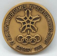1988 Calgary Winter Olympic Games - Official Participation Medal & Case - BA308