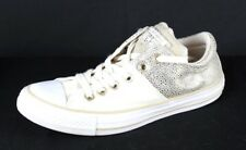 Converse all star women's canvas beige gold aplications low top sneakers size 7