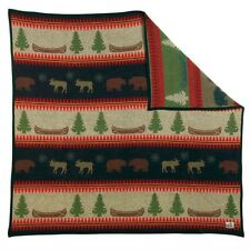 Old Hickory Lodge Wool Throw Blanket by Pendleton