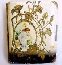 Antique Victorian Photo Album Celluloid Steampunk Art Nouveau Design 1800-1900s
