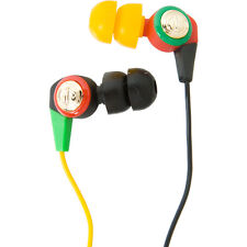 AERIAL7 Neo IN EAR Buds HEAD PHONES InLine MIC iPhone MP3 iPod MUSIC Color RASTA