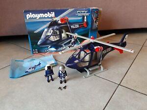 Playmobil City Action 5178 Polizeihubschrauber mit LED-Suchscheinwerfer Polizei