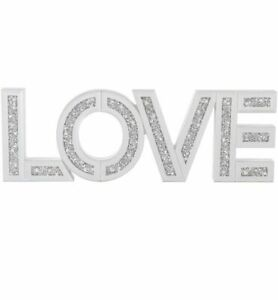 Mirrored crushed Diamond Love Sign Mirror jewel Wall Mounted Letters love sign