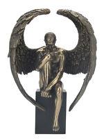 WU76861A1 Man~Male Standing in Palms~Nude Bronze Statue Sculpture Artistic Body