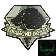 Diamond Dogs Metal Gear Solid PVC rubber 3D Glow Dark GITD touch fastener patch