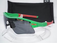 CUSTOM OAKLEY RADAR RANGE STRAIGHT STEM SUNGLASSES TEAM GREEN w/RED / GREY