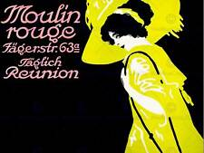 VINTAGE ADVERT THEATRE MOULIN ROUGE FRENCH NEW FINE ART PRINT POSTER CC4803