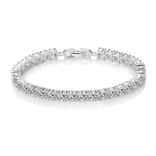 Simulated Sapphire Solitaire Bracelet