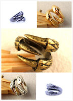 Punk goth biker gothic vintage bronze / gold / silver claw ring