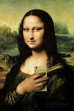 Mona Lisa Selfie Portrait Poster Print, 13x19