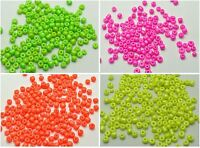 800 Neon Color Opaque Glass Seed Beads Rondelle 4mm (6/0) Pick your Color