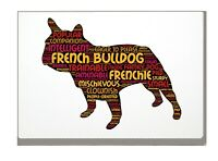 French Bulldog Art Print Word Art A4 A3 Mothers Day Gift Personalised Option