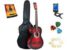 Star Acoustic Guitar 38 Inch, Bag, Tuner, Strings, Picks Beginner Guide Redburst